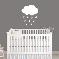 Baby Nursery Clouds Wall Sticker Cloud Rains Wall Decal Children Wall Sticker Kids Room DIY Easy Wall Art Cut Vinyl Stickers N8