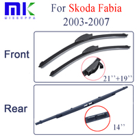Wiper Blades For Skoda Fabia 2003 2007 Rubber Front And Rear Windscreen Wipers Car Accessories Auto