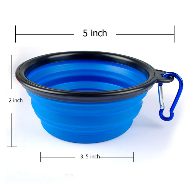 Silicone Puppy Travel Bowls Pet Feeding Bowl Dog Collapsible Water Dish Cat Portable Feeder