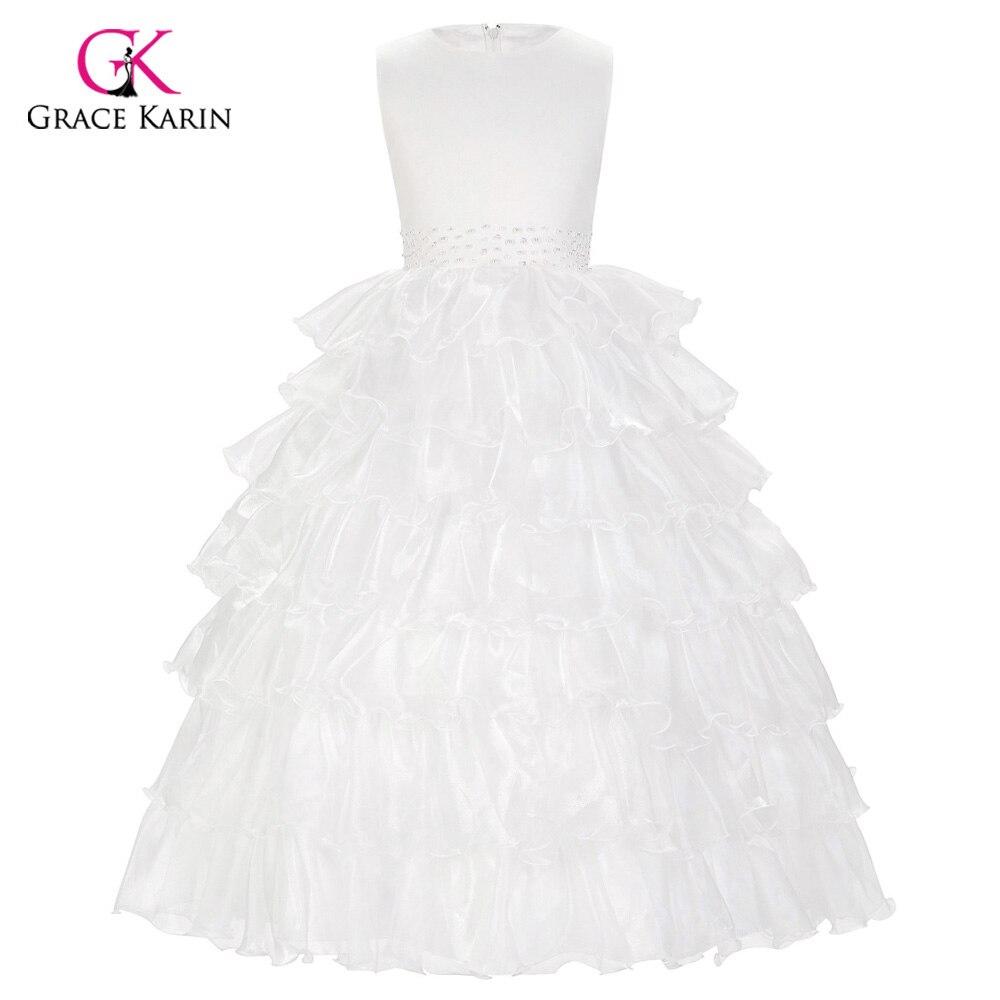 Flower Girl Dresses For Weddings Whitechampagne Sleeveless Layers