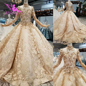 Image 5 - AIJINGYU Witte Trouwjurk Royal Gown Mouwen Met Mouwen Bestemming Oekraïne Russische Bloemen Jassen Bruiloft Lange Mouw