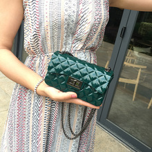 Jelly Womens Bag Solid color Mini Chain Messenger Tide Handbags Wild Fragrance Style Pattern Shoulder PVC Small Square