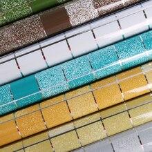Алюминиевая фольга самоклеющиеся обои для ванной комнаты водонепроницаемый скраб мозаика наклейки для настенной плитки кухня маслостойкие обои