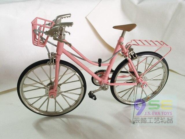 Metal bicicleta señora simulación mini bike modelo DIY miniatura ...