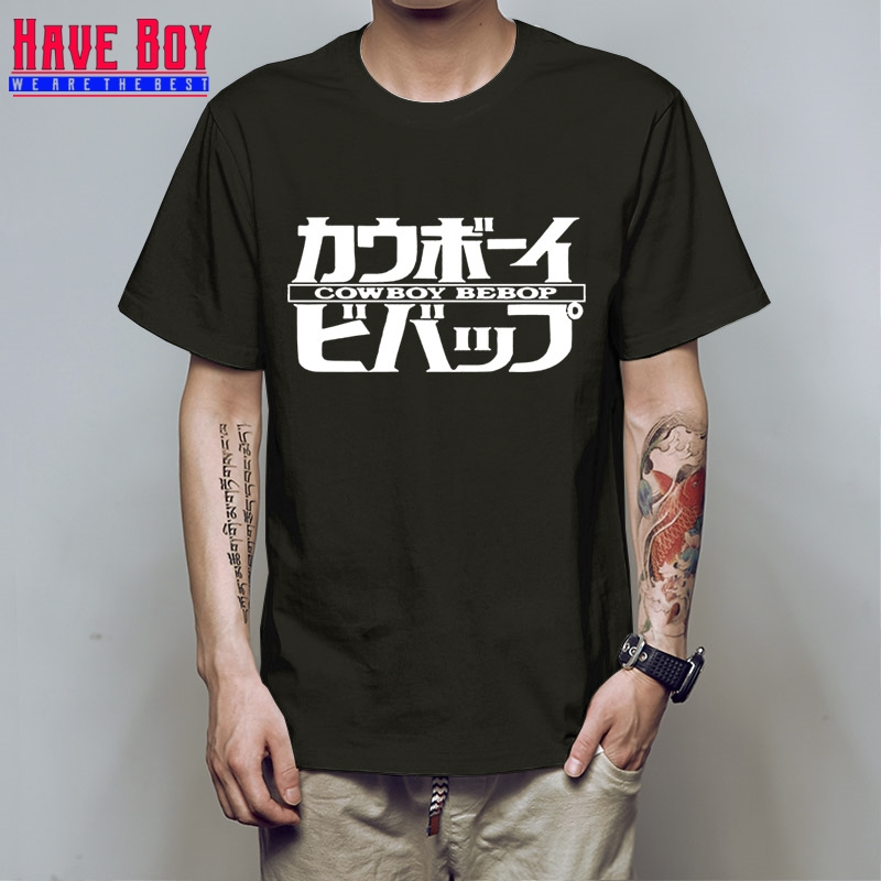 Vestidos Verano Tees Designer Gildan T-Shirt Novelty Cowboy Bebop Logo Letters Print T Shirt Mens Anime Short Sleeve HB92 ...