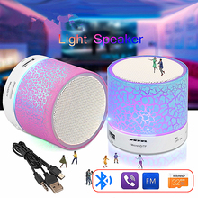 OUTMIX USB Mini Wireless LED Light Music Player Small Portable MP3 Bluetooth Speaker Color Change Support TF Card Audio Stereo original xiaomi mi bluetooth speaker wireless stereo mini portable mp3 player pocket audio support handsfree tf card aux in
