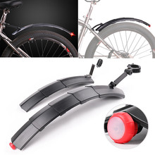 2pcs 26 Inch Mountain Cycling Front Rear LED Mudguard Set Bike Bicycle Durable Fenders With LED Light Plastic Bike Fender