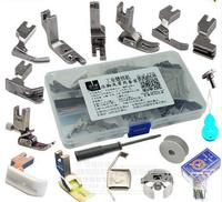 Industrial Sewing Machine Presser Foot Kit Sets Bobbin case 17pcs/set