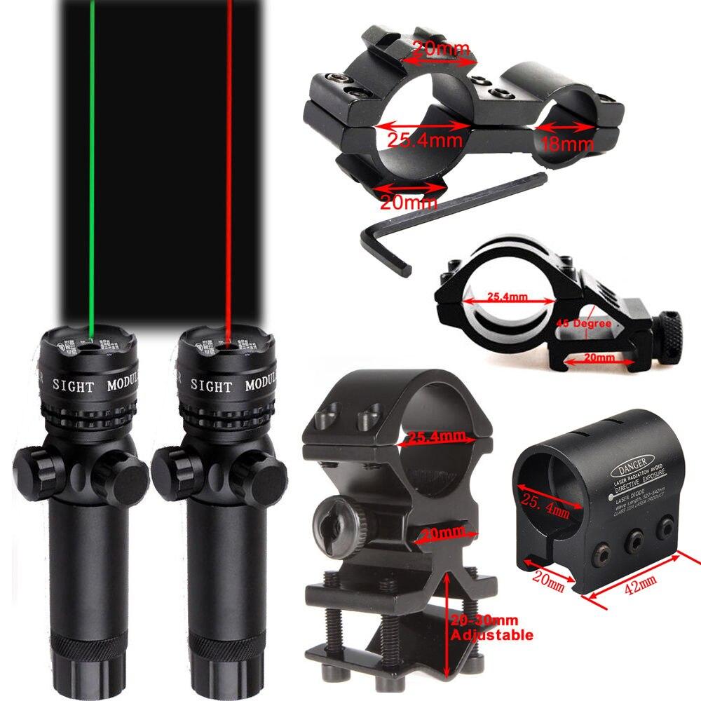 Rot/Grün Laser Anblick Fernbedienung Schalter Anzug 25,4/30mm Ring 20mm Schiene QD Mount + W /Remote Schalter Für Jagd