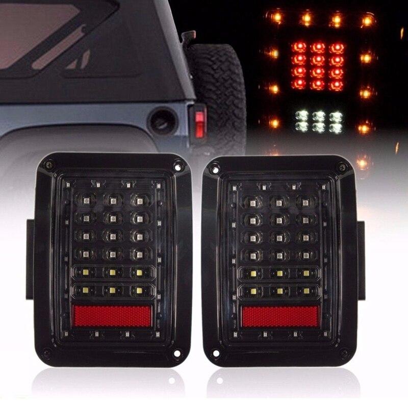 2x из светодиодов заднего Обратный хвост стоп тормозной включите свет лампы для 07~16 Jeep Вранглер JK