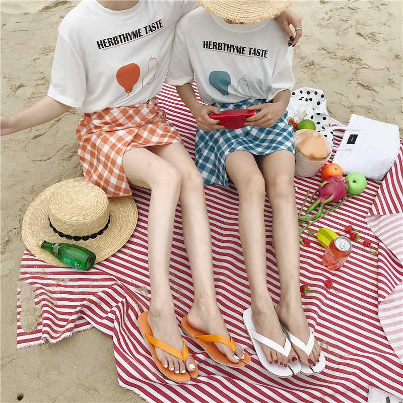 Prova Perfetto Thời Trang Tabi Dép Phố Kẹo Màu Xỏ Ngón Đi Biển Mùa Hè Giày Người Phụ Nữ Da Ngẫu-Đế Giày Sandal nữ