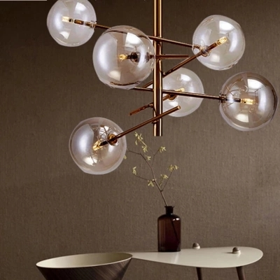 Europe Modern Creative Glass Pendant Light magic beans Glass Bubbles Study Livingroom Restaurant Cafe Decoration LampEurope Modern Creative Glass Pendant Light magic beans Glass Bubbles Study Livingroom Restaurant Cafe Decoration Lamp