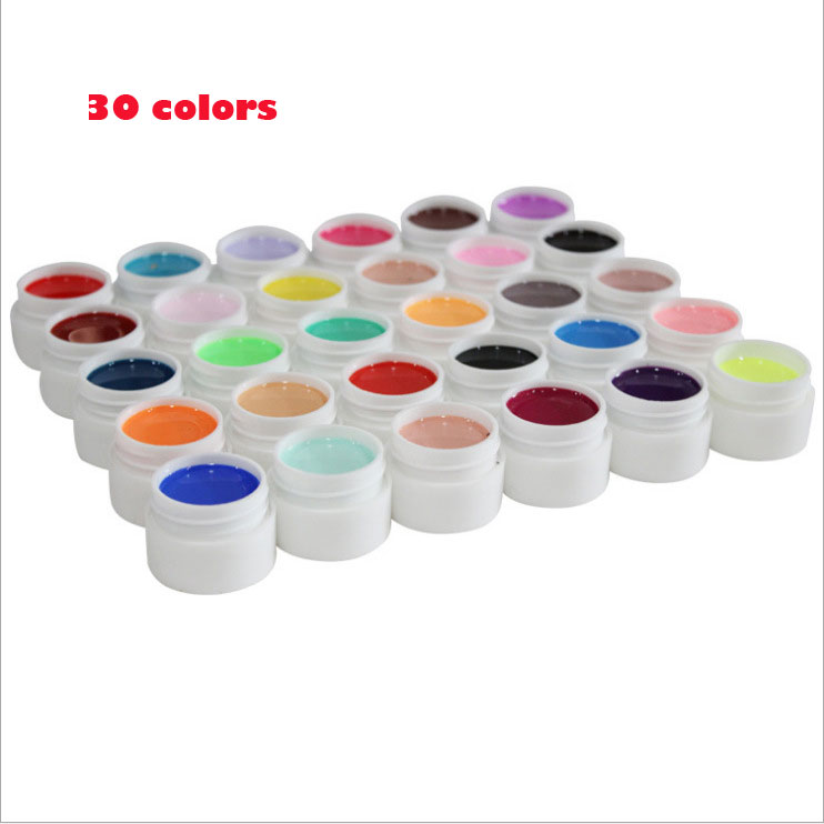 36 colores / set Pure Color uv gel Nail Art Tips Shiny Cover - Arte de uñas - foto 2