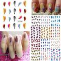 Colorful Womens Beauty Leopard Water Transfer Nail Art  Stickers  Tips Feather Decals  1Q8C 2TZO
