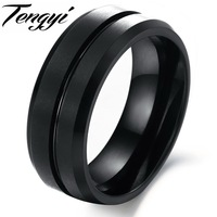 Korean Fashion Jewelry Fashion Jewelry Tungsten Ring Wholesale Men S Rings Black To Choose Size 7