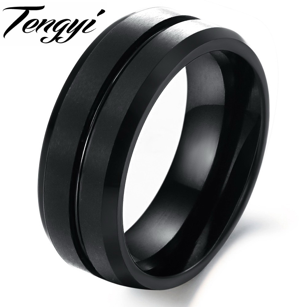 ring wedding loading silver tungsten zoom carbide band rope rings