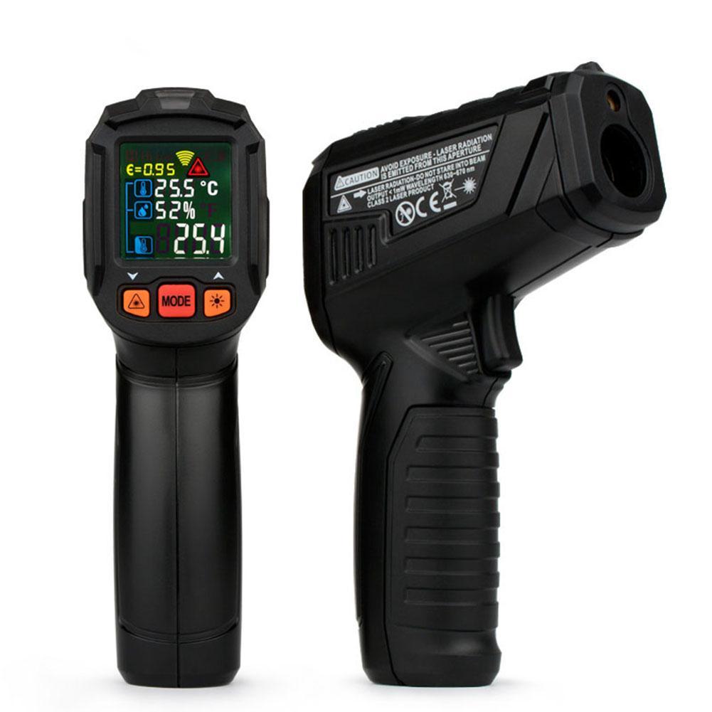 цена LanLan Digital Thermometer Humidity Meter Infrared Hygrometer Temperature Humidity Pyrometer meter pyrometer