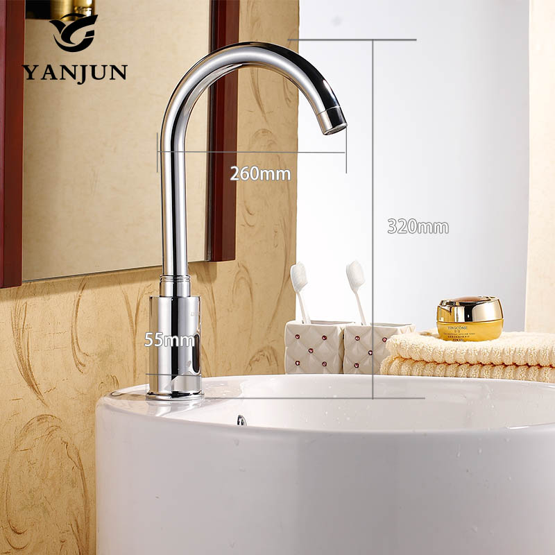 Yanjun Touch Free Sensor Faucet Automatic Shut Off Faucet DC6V Or AC220V Lavatory Bathroom Kitchen YJ