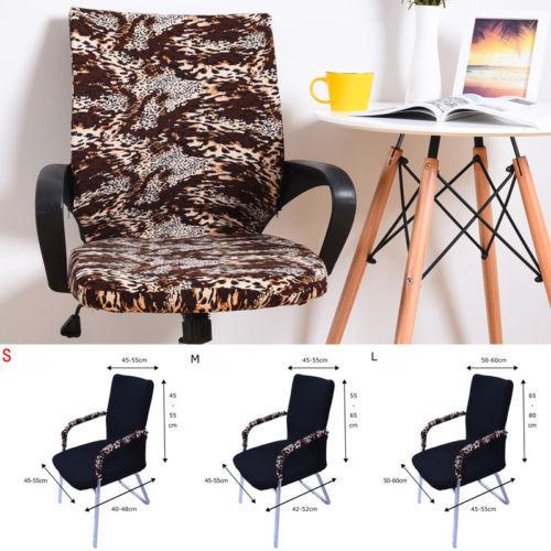 Cubierta silla de oficina silla giratoria computadora protector para brazo de silla tarea funda silla a la moda cubre