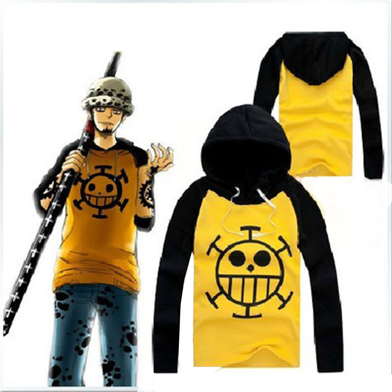 Anime Cosplay One Piece Costume Trafalgar Law Hoodies Masquerade Clothes Top for Man Women Long Sleeve