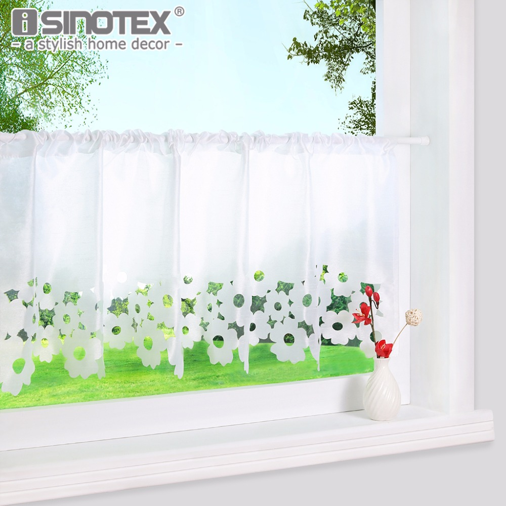 Cafe Curtain Lace Embroidered Small 100%Polyester Fashion Hollow Pastoral Various-Sizes