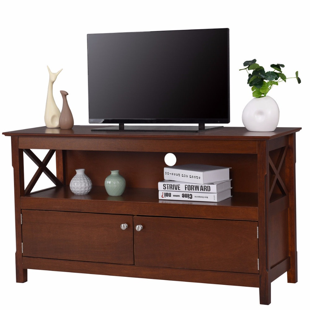 Charmant Giantex Modern TV Stand Living Room Console Wooden Storage Cabinet Shelf Media  Center Television Stand HW57048 In Living Room Cabinets From Furniture On  ...
