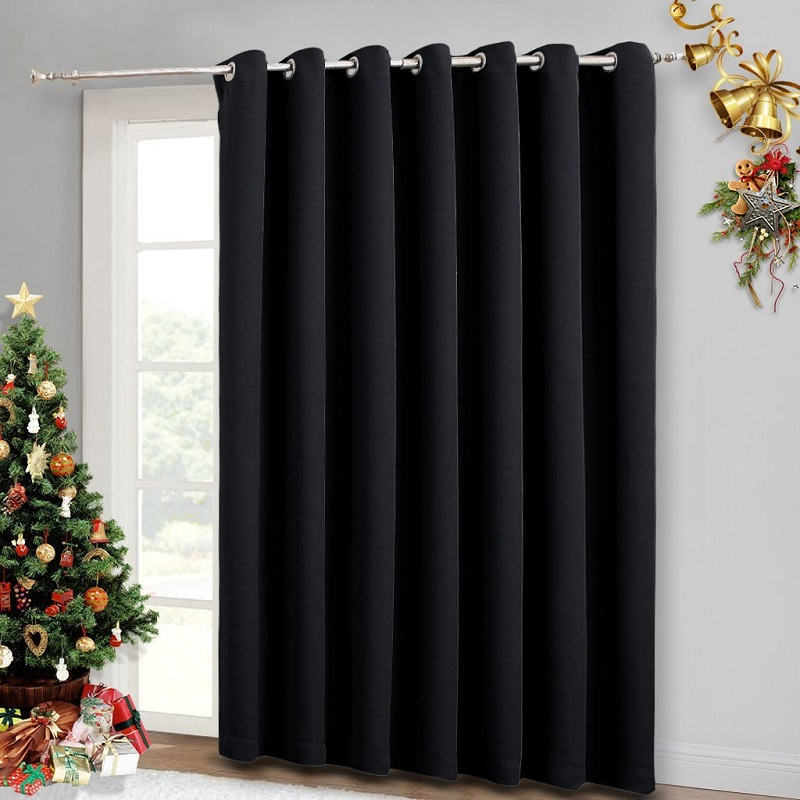 Nicetown Thermal Insulated Wide Width Solid Blackout Curtain Divider