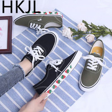 HKJL Canvas shoe female student han edition goes all out spring new fund strawberry board 2019 tide A531