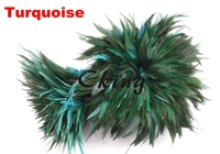 EMS Free Shipping 1kgs Turquoise Blue Rooster Hackle Feather Strungs 10 15cm 4 6 rooster saddle feather Rolls DIY accessory
