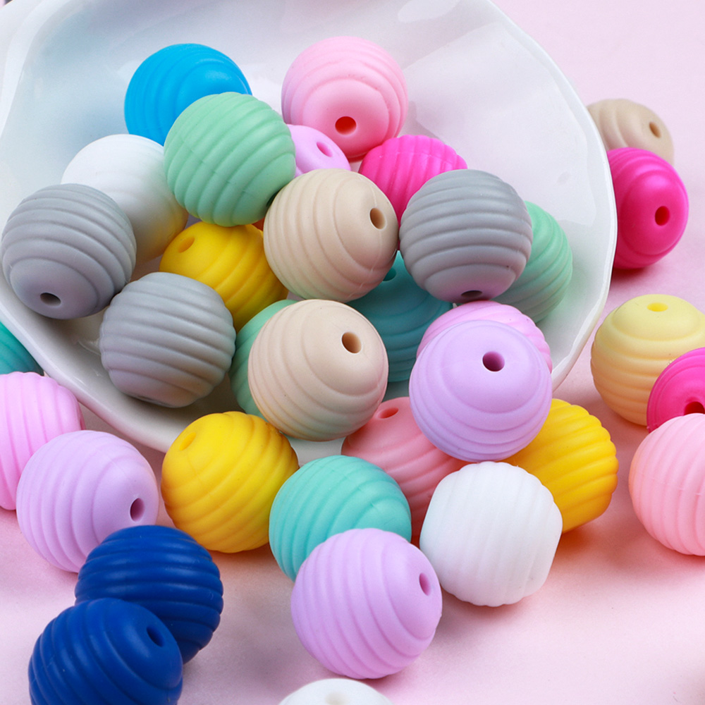 TYRY.HU 20pc/lot Teething Beads 13mm Screw Food Grade Silicone Teething Accessories BPA FREE Nursing Silicone Beads