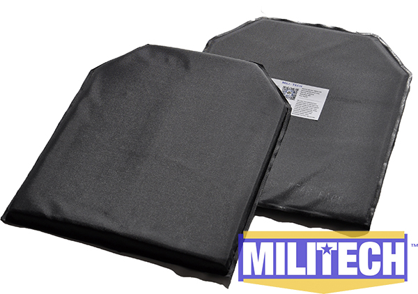 MILITECH 11 x 14 Shooters Cut Pair Bulletproof Aramid Ballistic Panel + E2 Stab Resistant Body Armor NIJ Level 3A NIJ 0115.00 modern ghost shadows bedroom bedside table lamps reading desk lights art home and room decorations tll 3