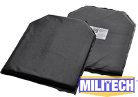 11 X 14 Shooters Cut Pair Bulletproof Aramid Ballistic Panel E2 Stab Resistant Body Armor NIJ