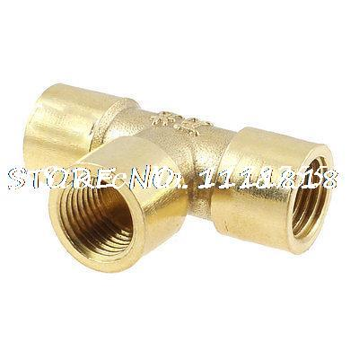 Pneumatic 1/4 NPT Female Threaded Three Way Quick Coupler Connector Fitting three way air pass quick coupler connector navy blue