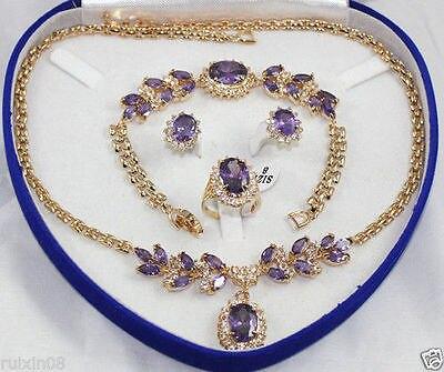 De mariée bijoux femmes Set collier boucle d'oreille anneau Bracelet > AAA 18 K GP plaqué or de mariée large montre ailes reine JEWE W5456