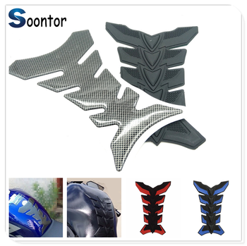 Motorcycle 3D Rubber Pad Oil Gas Fuel Tank Protector Cover Sticker Decal Fish Bone for HONDA CR80R 85R CRF150R CR125R 250R image