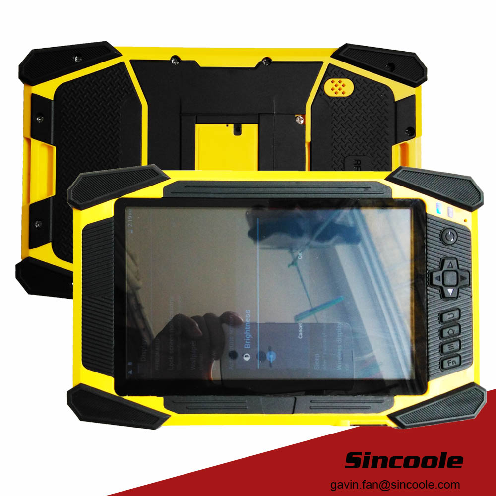 RFID LF 125K Android Rugged Tablet, Industrial Panel PC, Strong Tablet original 7 shockproof rugged waterproof tablet pc octa cores cell phone gnss gps 2 5 glonass lf uhf rfid android 4 2 zigbee nfc