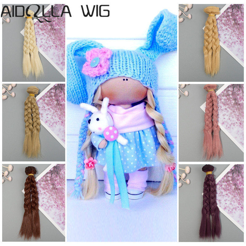 1piece Extension Doll Wigs 15cm/25cm Natural Color Curly Hair for BJD/SD Russian Handmade DIY Wig