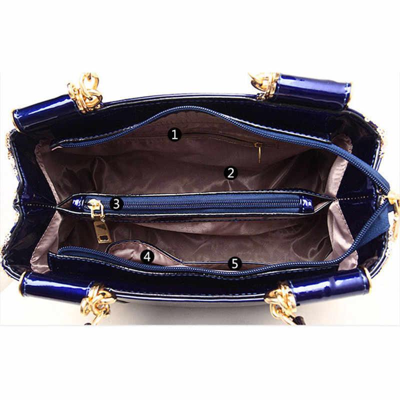 c47a2ca6effa ... Flyone женские сумки высокого класса счетчики натуральная кожа из  лакированной кожи сумки женские сумки на плечо ...