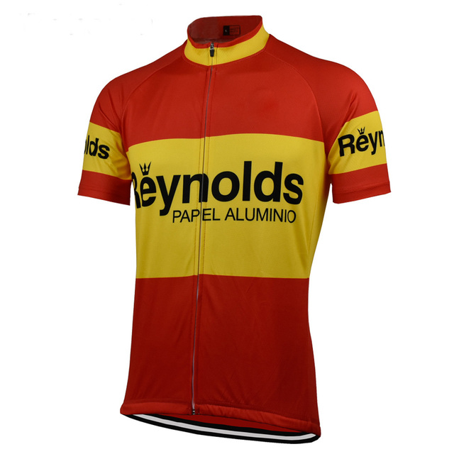 Retro classic Cycling Jersey ropa ciclismo men short wear bike Breathable  outdoor cycling clothing mtb pro team Summer maillot b0b6aab77