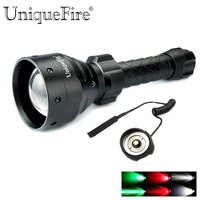 UniqueFire 1405 Upgrade Cree Q5 LED Flashlight 5 Mode Shooting Camping Torch Red Green White Light