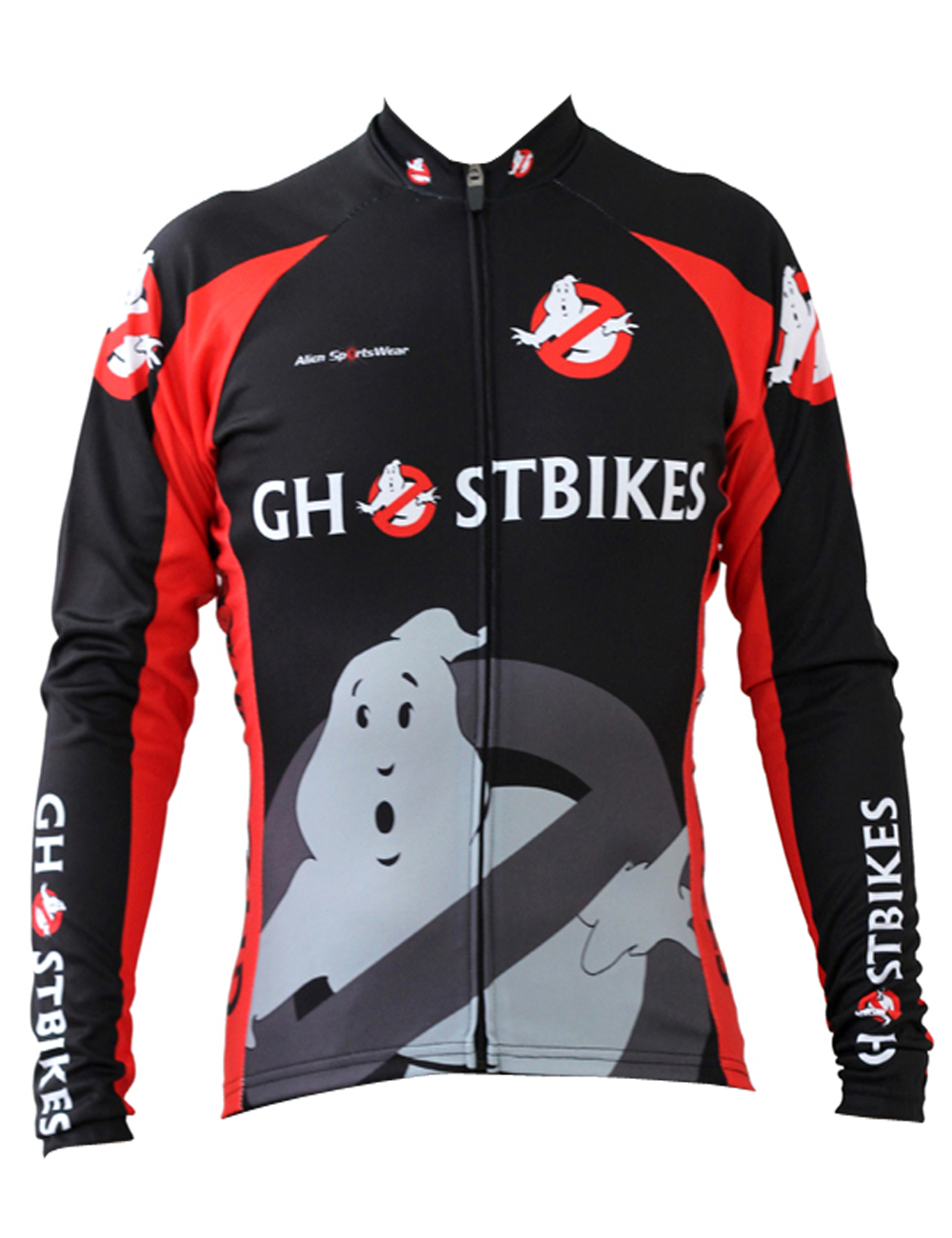 Ghost Bikes Cycling shirt bike equipment Mens Long Sleeve Cycling Jersey Cycling Clothing Bike Shirt Size 2XS To 6XL ILPALADIN new 17 black red spider mens breathable bike clothing polyester autumn long sleeve cycling jerseys size 2xs to 6xl