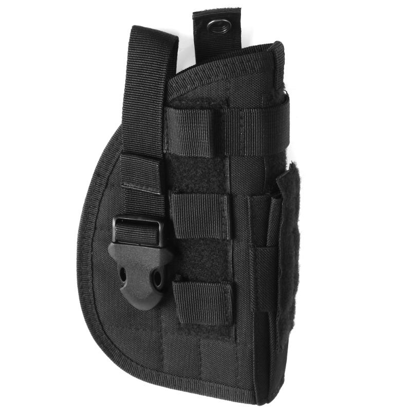 Outdoor Tactical Gun Holster Pistol Pouches Bag Molle Modular for Right Handed Shooters Hunting Accessories For All Handguns