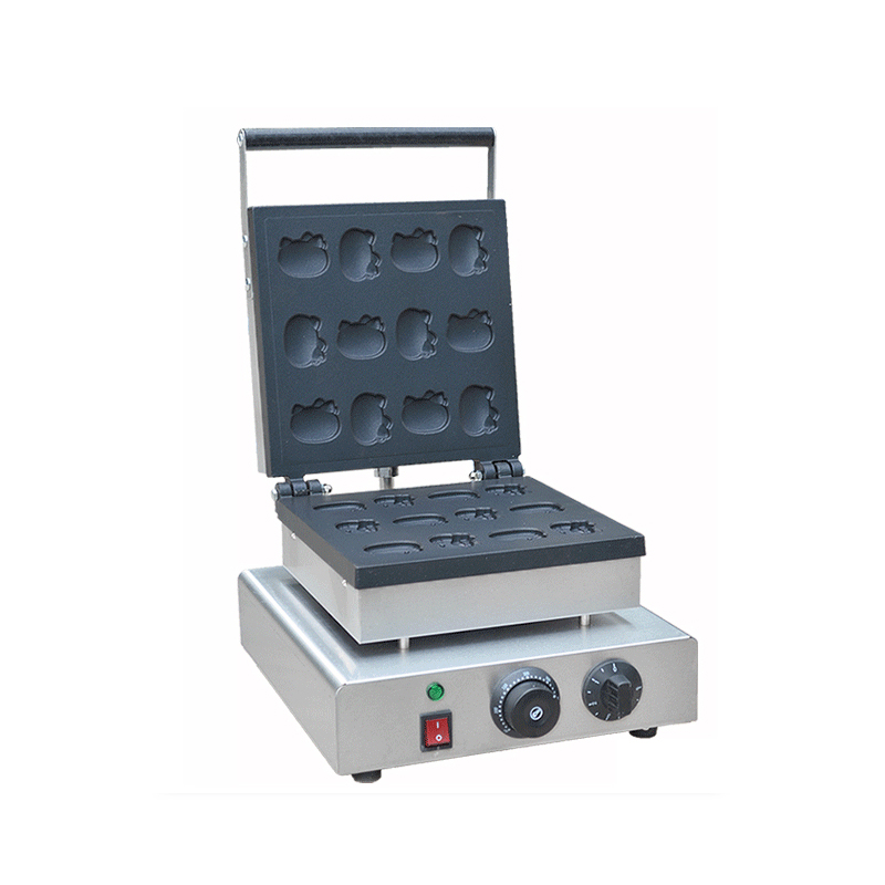 RY-FY-2218C Stainless Temperature control timing Electric machine Commercial crispy muffin machine Waffle Rond snak equipment