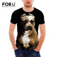 FORUDESIGNS T Shirt Hommes Mode Pit Bull Dog Affiches Hommes T-shirt 3D Hibou Streetwear Chaude T-Shirt Tee tops Homme marque vêtements homme