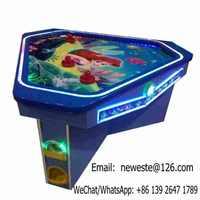 3 People Indoor Mermaid Amusement Coin Operated Air Hockey Table Arcade Game Machine