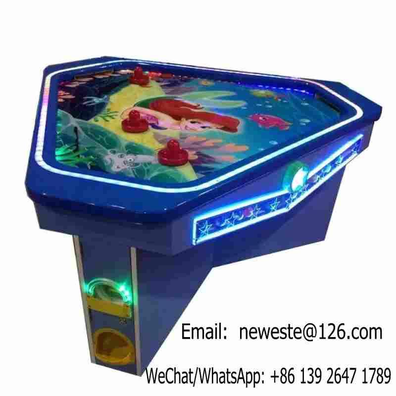 Machine de jeu d'arcade de Table de Hockey d'air de pièce de monnaie d'amusement de sirène d'intérieur de 3 personnes