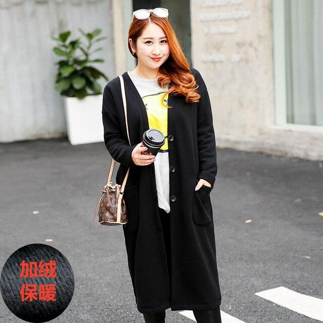 Tamanho grande das mulheres com casaco de cashmere em outono e inverno longo solto longo casaco quente de espessura 295