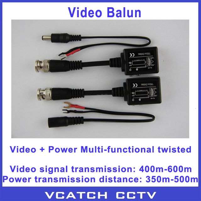 Vcatch 5 Pairs/lot Twisted Video Power Balun Passive Transceivers CCTV DVR Camera BNC Cat5 UTP Calbe RJ45 Interface