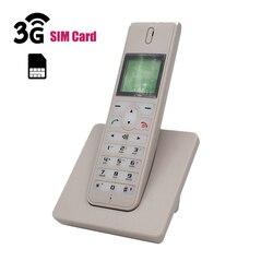 Gsm 3g wcdma sem fio telefone fixo com cartão sim sms backlight led tela radiotelefones telefone sem fio para casa