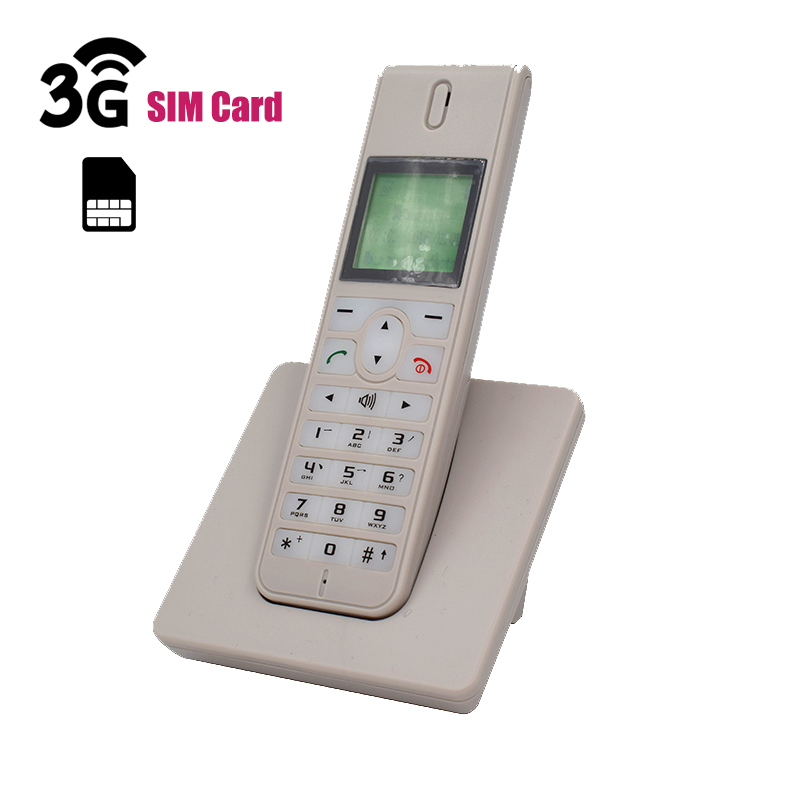 Telefon 3G WCDMA GSM Sem Fio Fixo de Telefone Com O Cartão SIM SMS Radiotelefones Retroiluminação LED Tela Do Telefone Sem Fio Para Casa